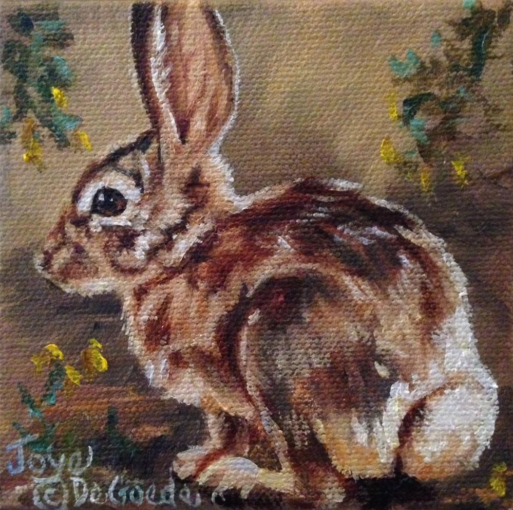 """Lil Bunny Tail (c) by Joye DeGoede"" original fine art by Joye DeGoede"