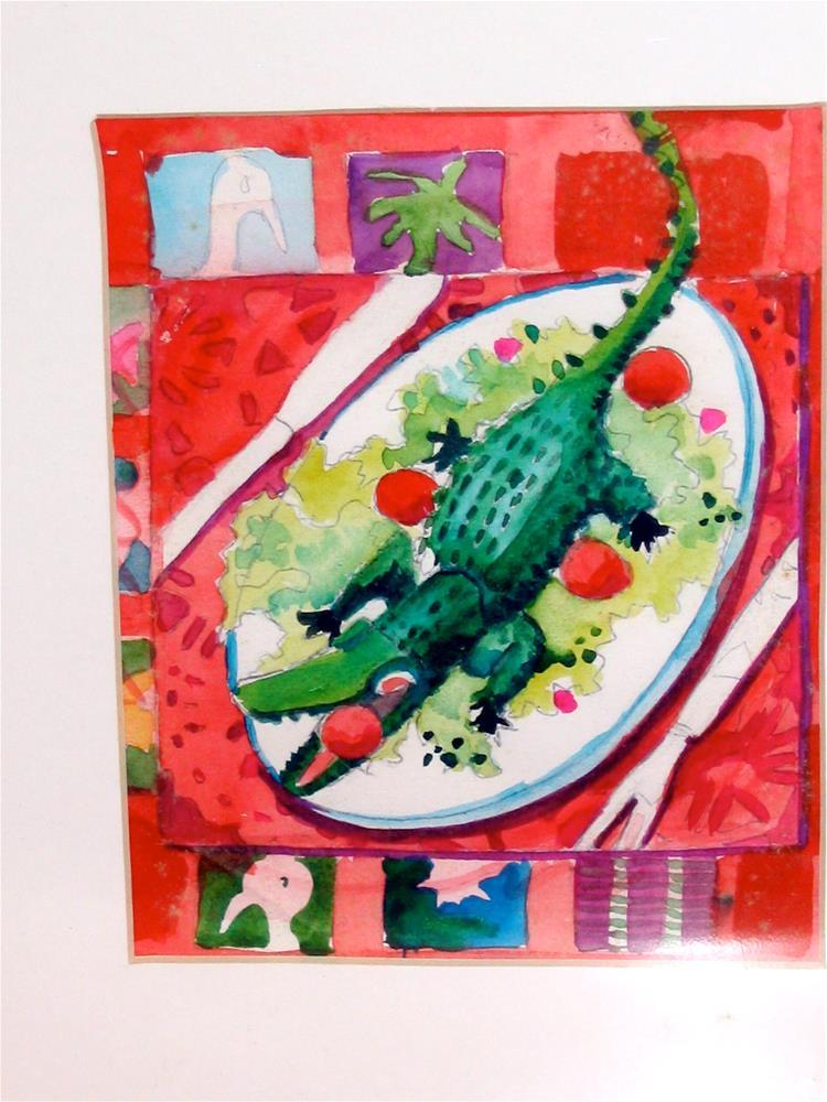 """christmas n florida"" original fine art by meribeth coyne"