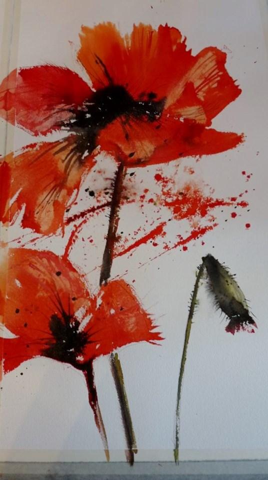 """Poppies"" original fine art by Martin Stephenson"