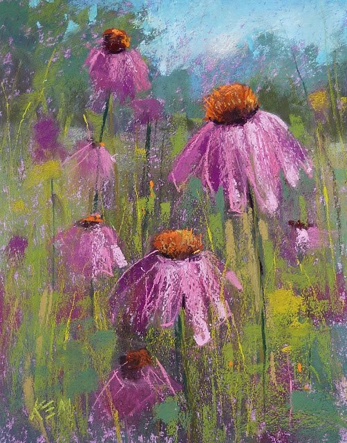 """Why Does Violet Help a Landscape Painting?"" original fine art by Karen Margulis"