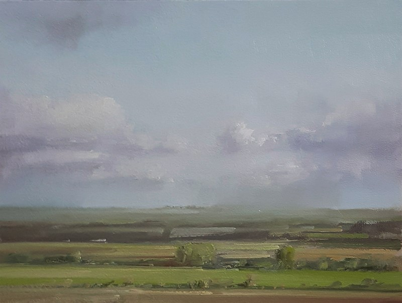 """Rutland Landscape"" original fine art by Neil Carroll"