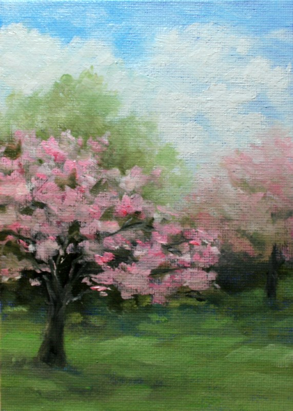 """Spring's Pastels"" original fine art by Jean Nelson"