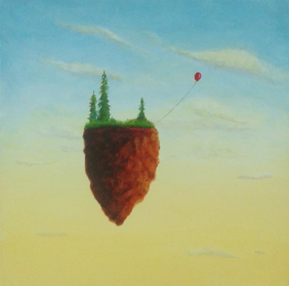"""Red Balloon"" original fine art by Staar Caswell"