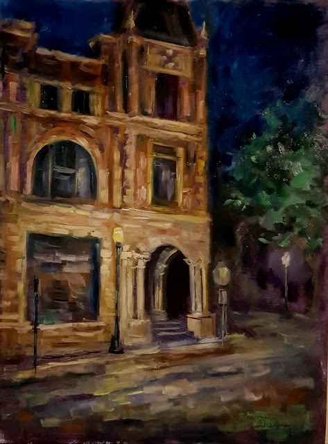 """Night in Fairfield"" original fine art by Tammie Dickerson"