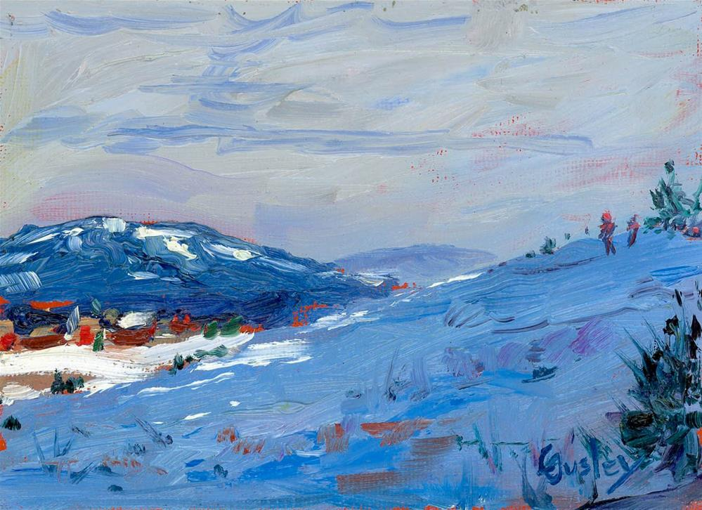 """""""Winter Afternoon Shadows"""" original fine art by Chris Ousley"""