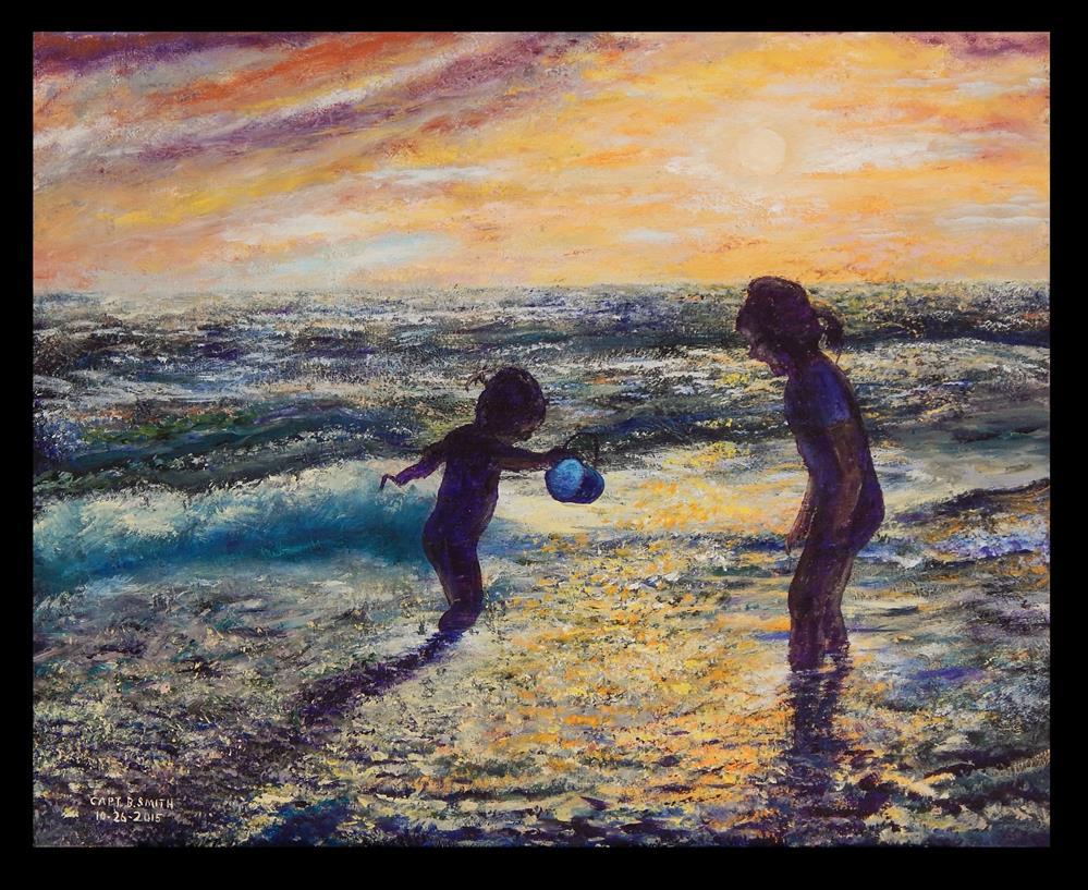 """The Blue Bucket"" original fine art by Captain B Smith"
