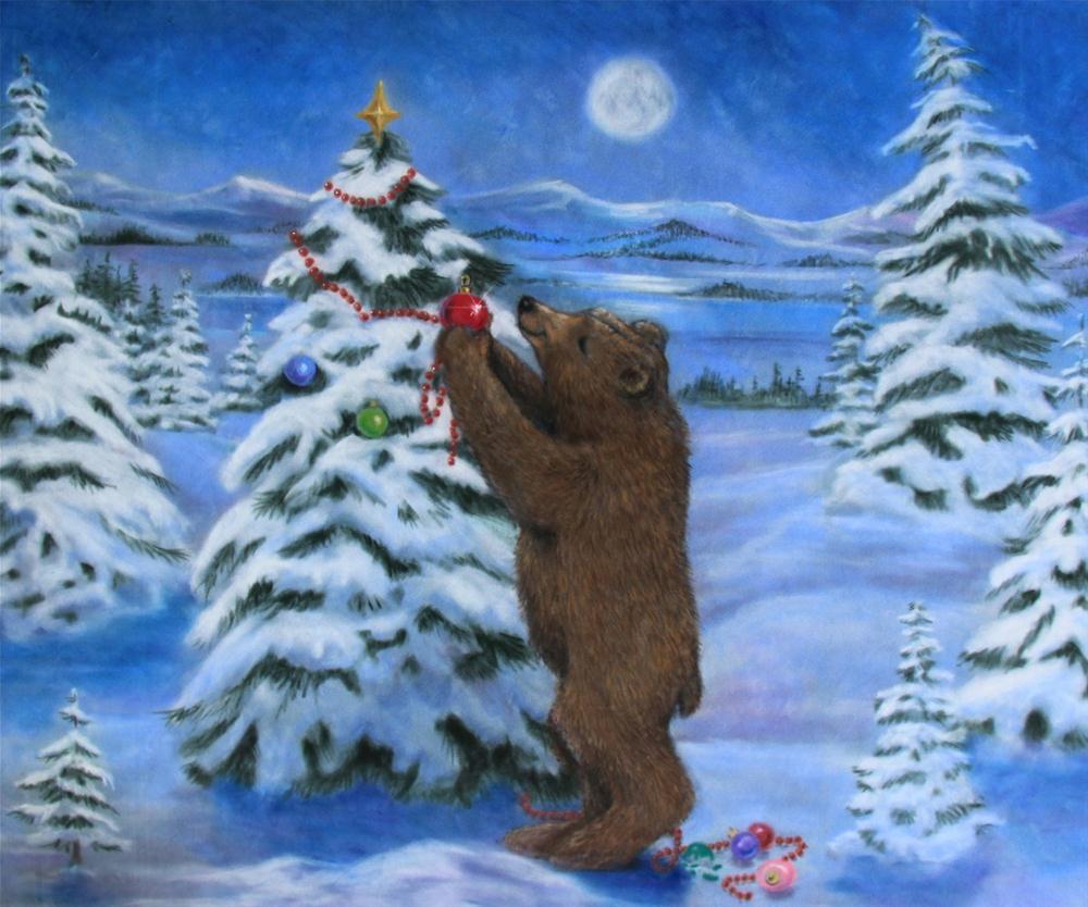 """A Bear's Tree"" original fine art by Joy Campbell"