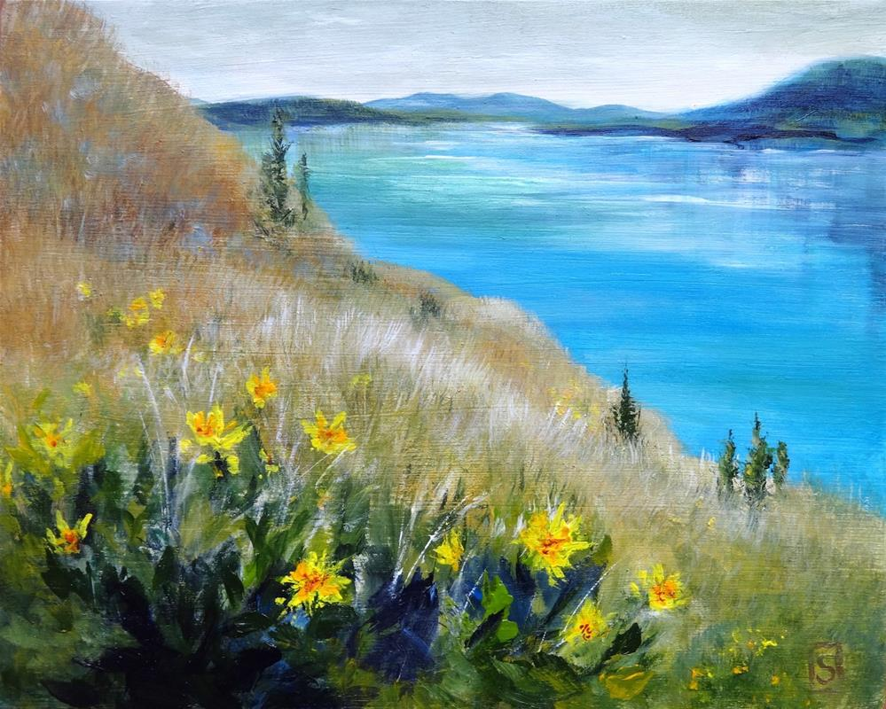 """6037 - Arrowleaf Lake"" original fine art by Sea Dean"