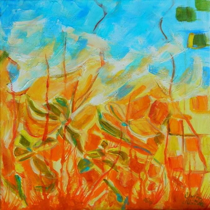 """Flowers Abstract #2"" original fine art by Gloria Urban"
