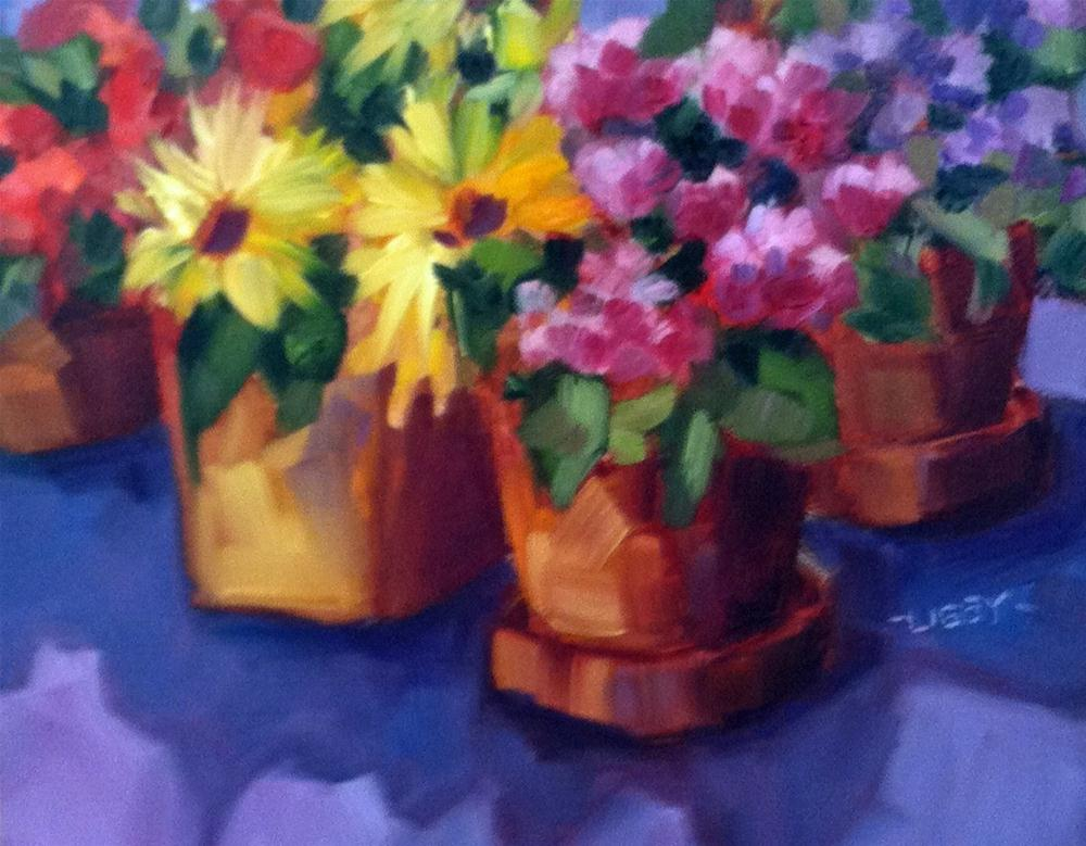 """Color Conference"" original fine art by Libby Anderson"
