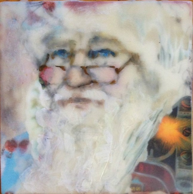 """Father Christmas"" original fine art by Katie Wilson"