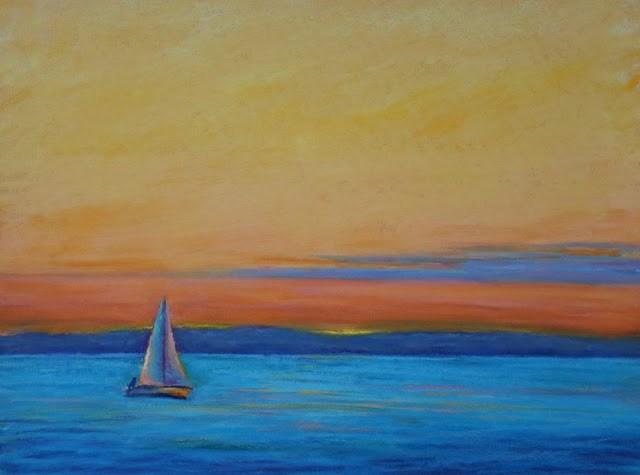 """Heading Home"" original fine art by Sharon Lewis"
