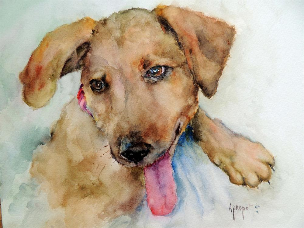 """New Puppy"" original fine art by Anne Marie Propst"