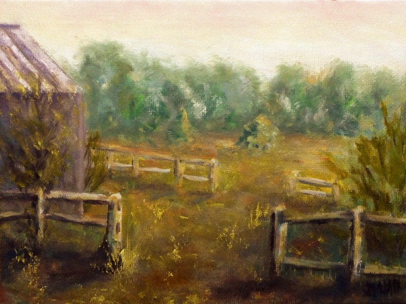 """Dad's Farm"" original fine art by Dalan Wells"