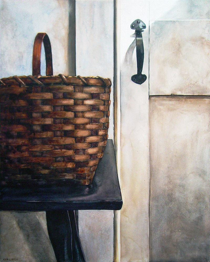 """A Basket Awaits"" original fine art by Kara K. Bigda"
