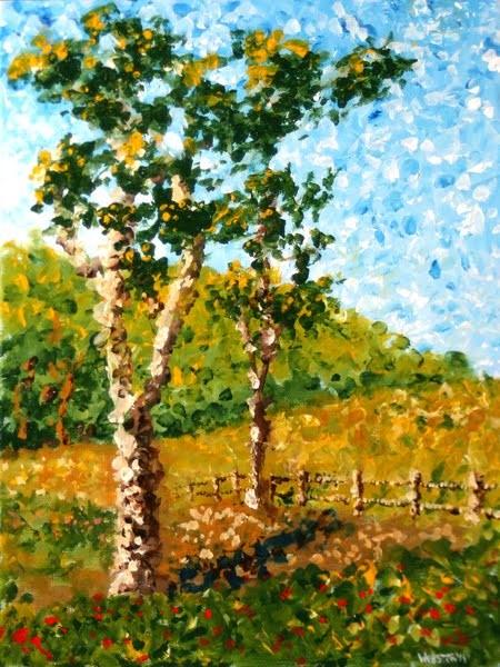 """""""Mark Webster - Impressionist Tree Landscape Acrylic Painting"""" original fine art by Mark Webster"""