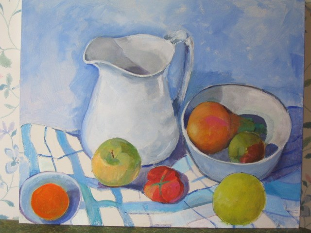 """white jug"" original fine art by meribeth coyne"