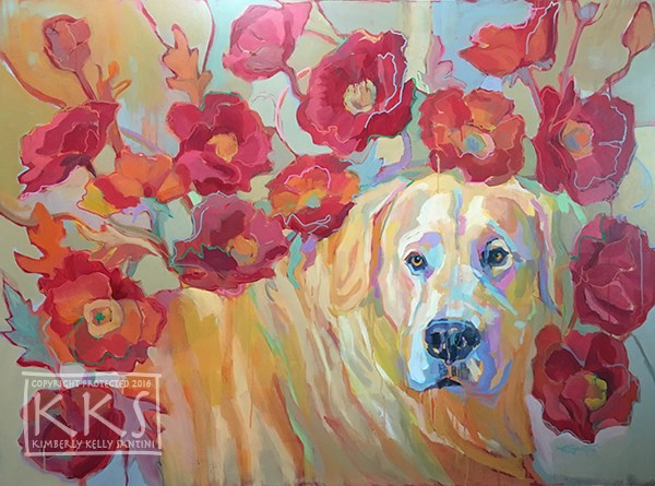 """Poppy"" original fine art by Kimberly Santini"