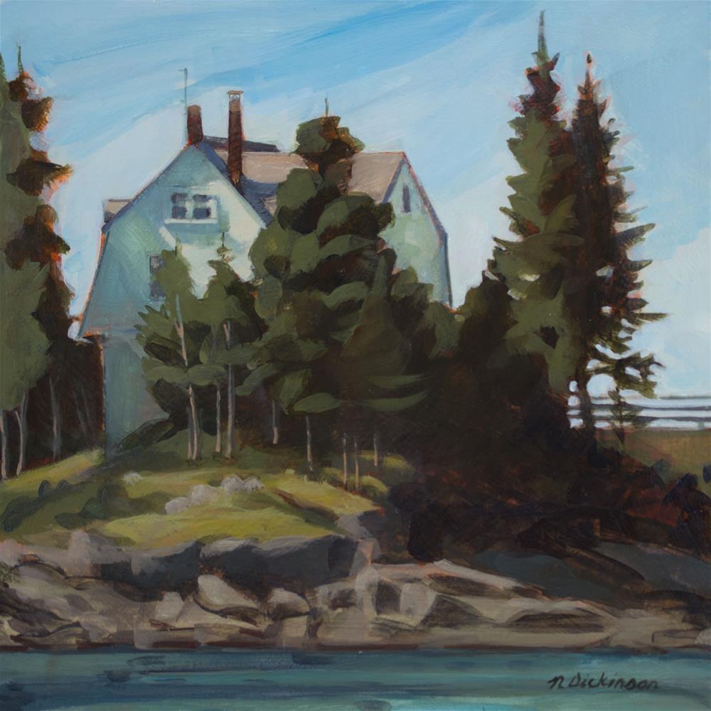 """Keeper's Cottage, Isle au Haut"" original fine art by Nat Dickinson"