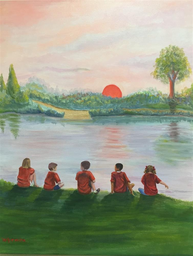 """""""School Picnic"""" original fine art by Barbara Whitmire"""