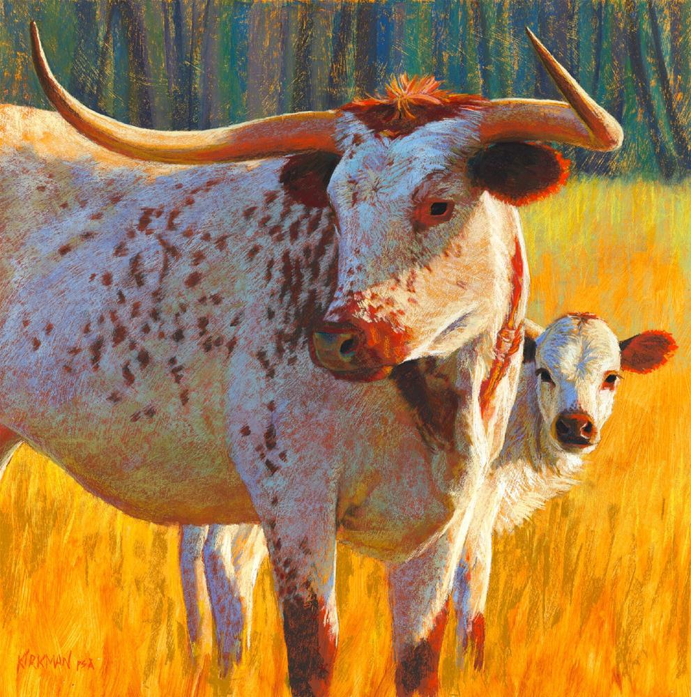 """Texas Pride and Progeny"" original fine art by Rita Kirkman"
