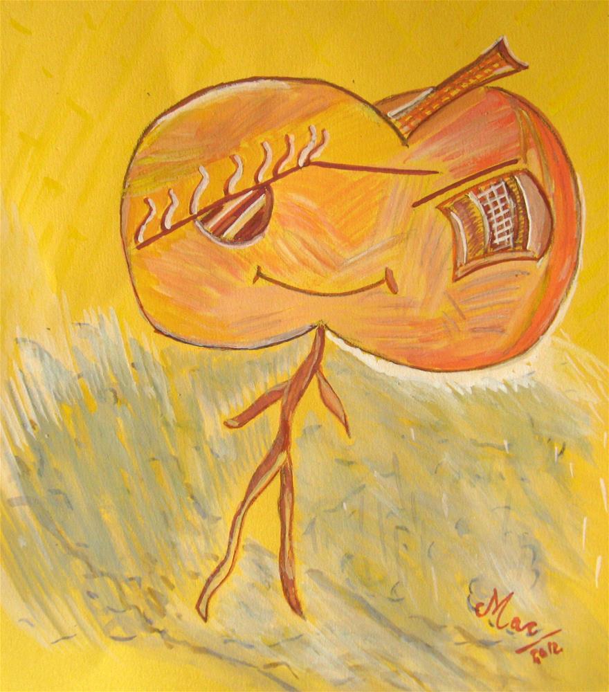 """Happy Apple"" original fine art by Alina Frent"