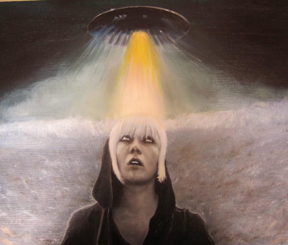 """""""I'd tell all my friends, but they'd never believe me"""" original fine art by Karen Stitt"""