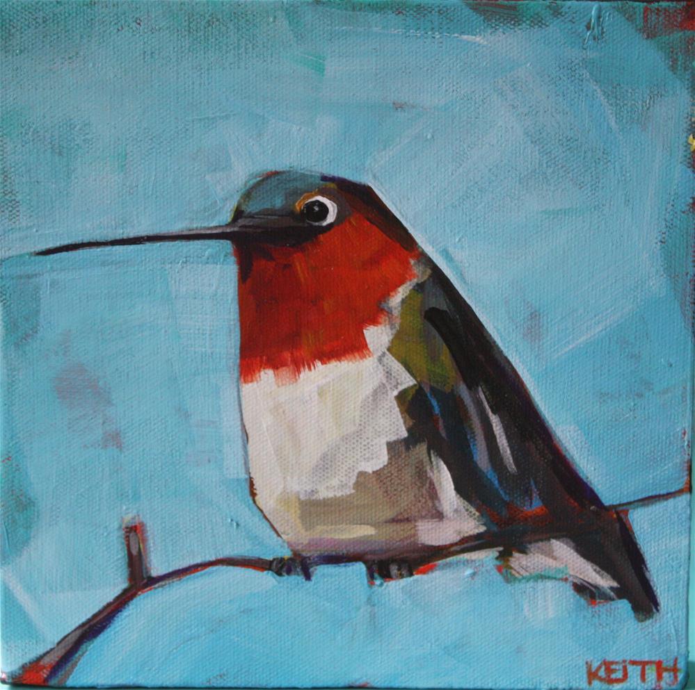 """Fat Boy Blue"" original fine art by Kandice Keith"