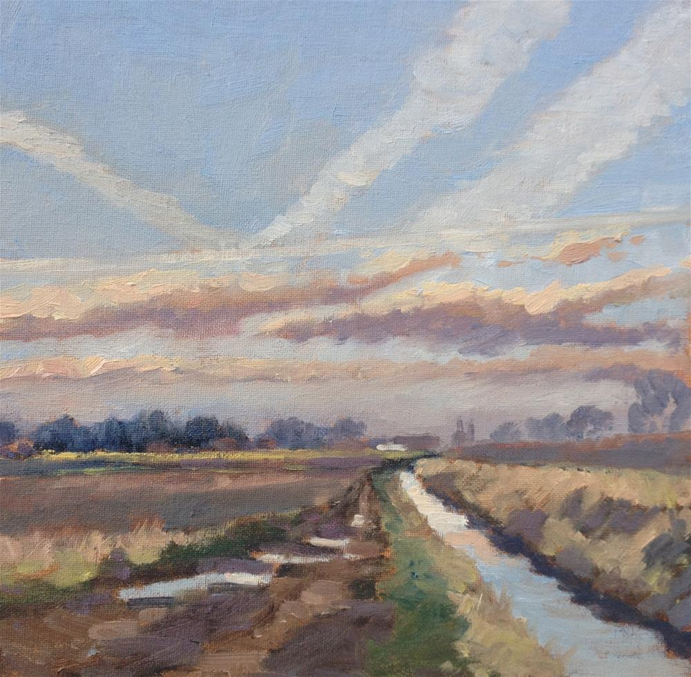 """Vapour Trails, Lincolnshire"" original fine art by Mo Teeuw"
