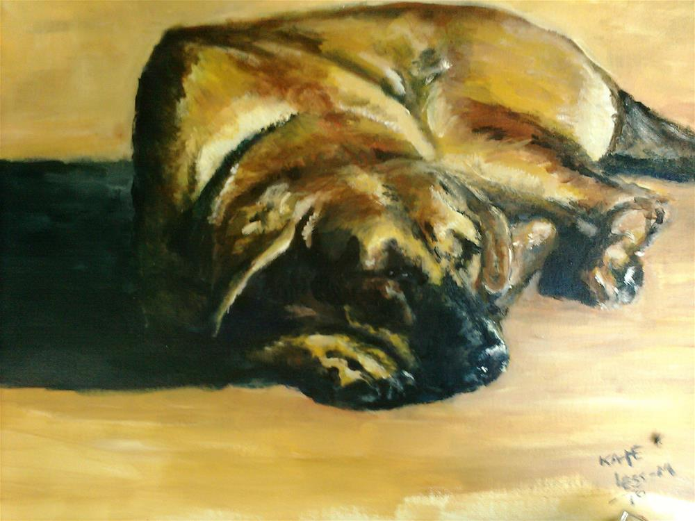 """A Hound Dog Day"" original fine art by Kate Less-Madsen"