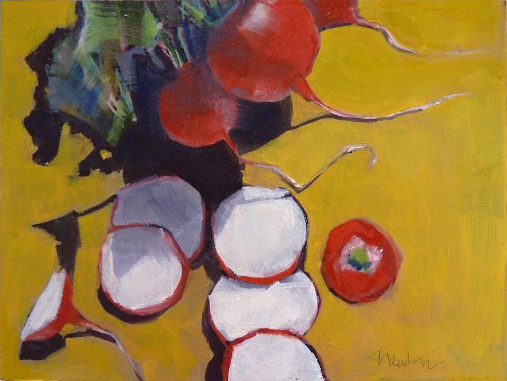 """Radishes"" original fine art by Barbara Benedetti Newton"