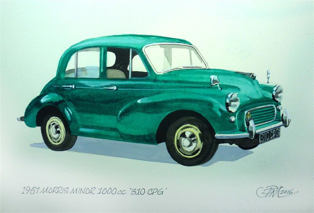 """Morris Minor 1957 commission"" original fine art by John Monney"