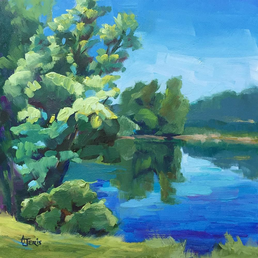 """Sunny Pond"" original fine art by Andrea Jeris"