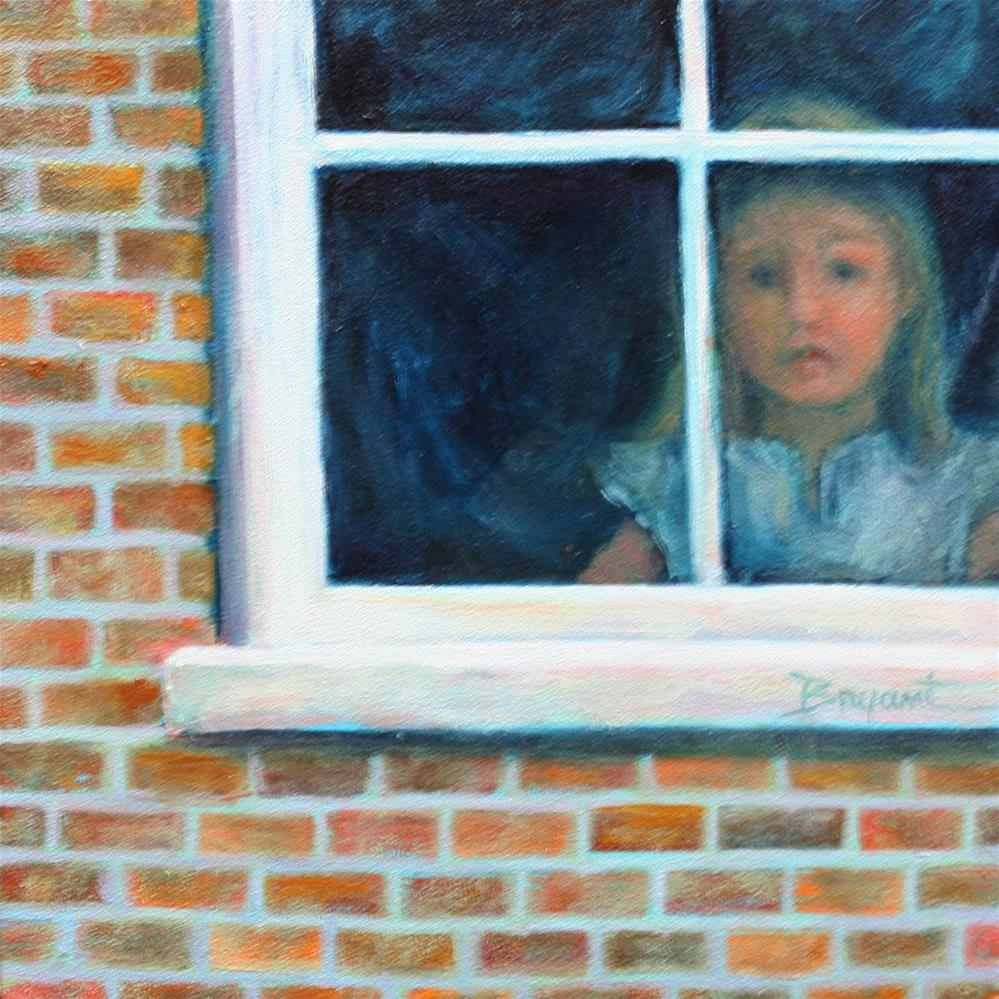 """Watcher at the Window"" original fine art by Debra Bryant"