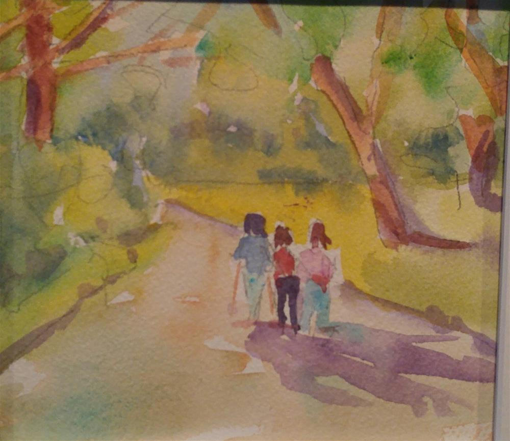 """Friends Hiking"" original fine art by angela scully"