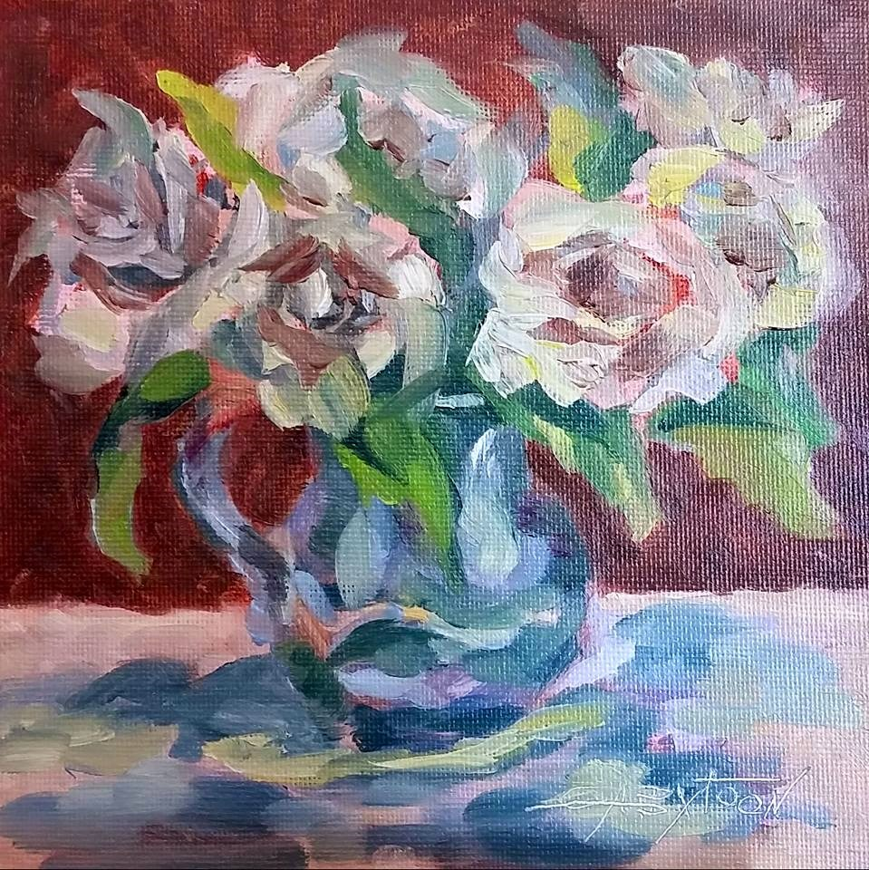 """Flowers"" original fine art by Gabriella DeLamater"