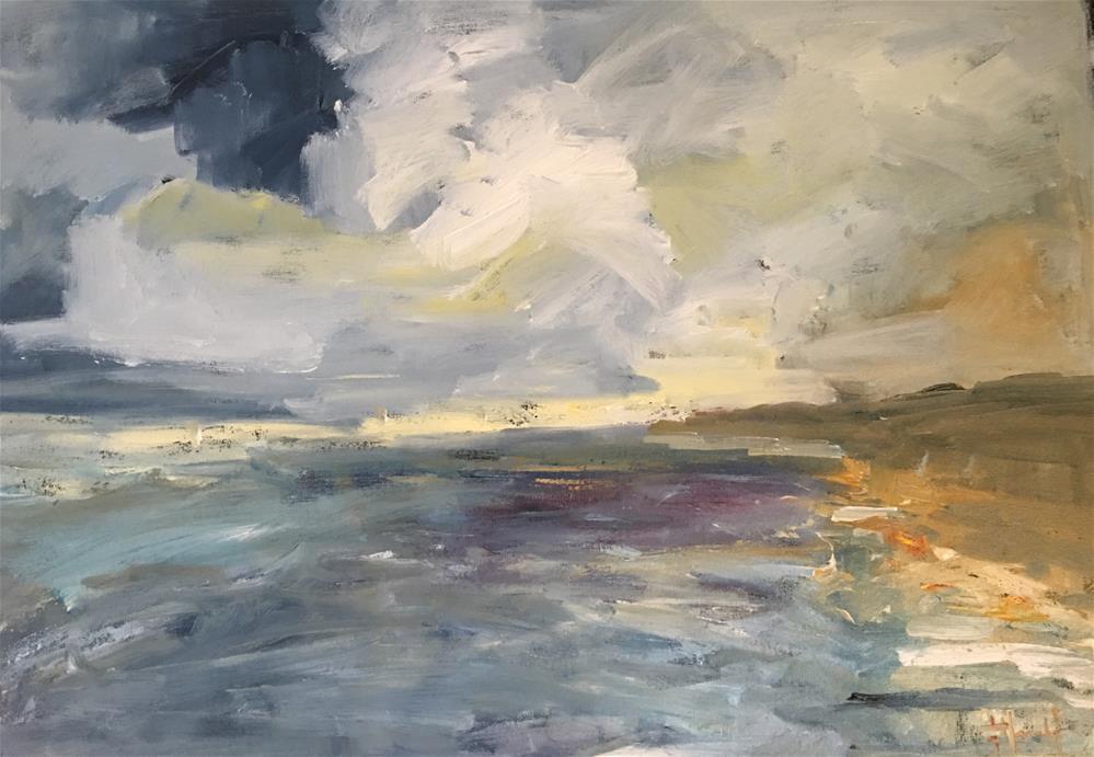"""Morning Paddle"" original fine art by Deborah Harold"