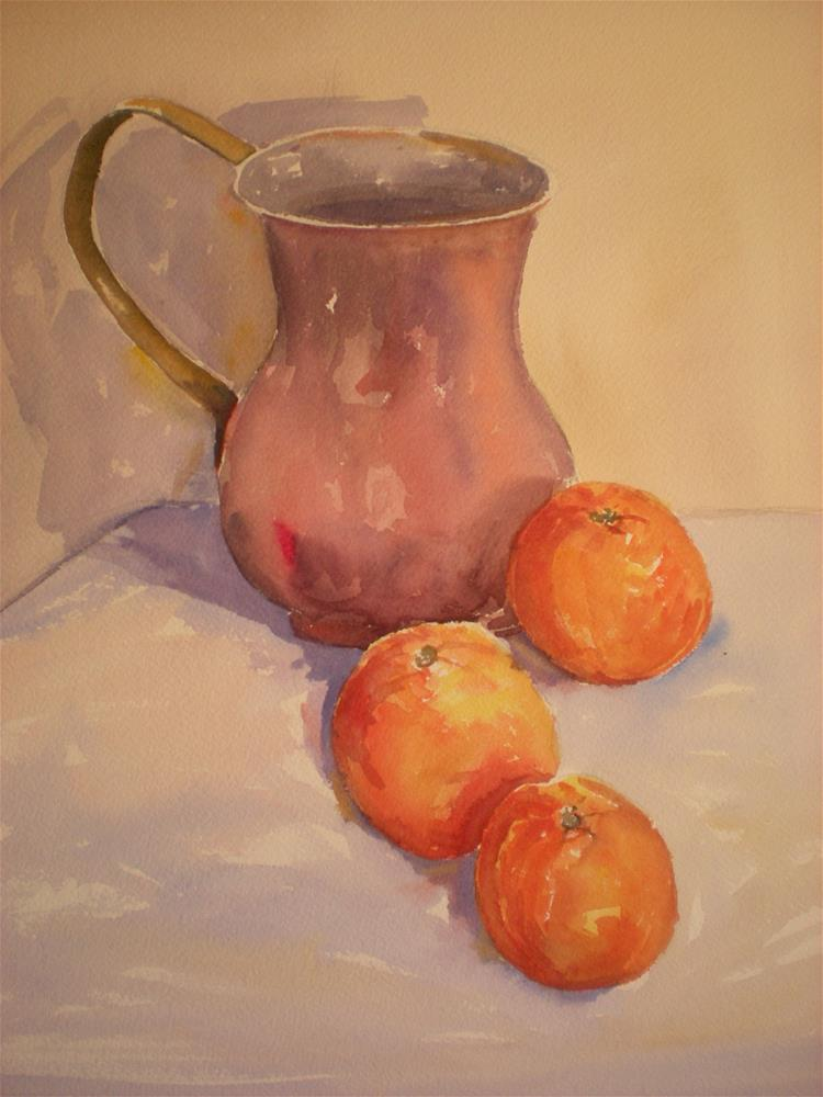 """Three Oranges"" original fine art by Graham Findlay"