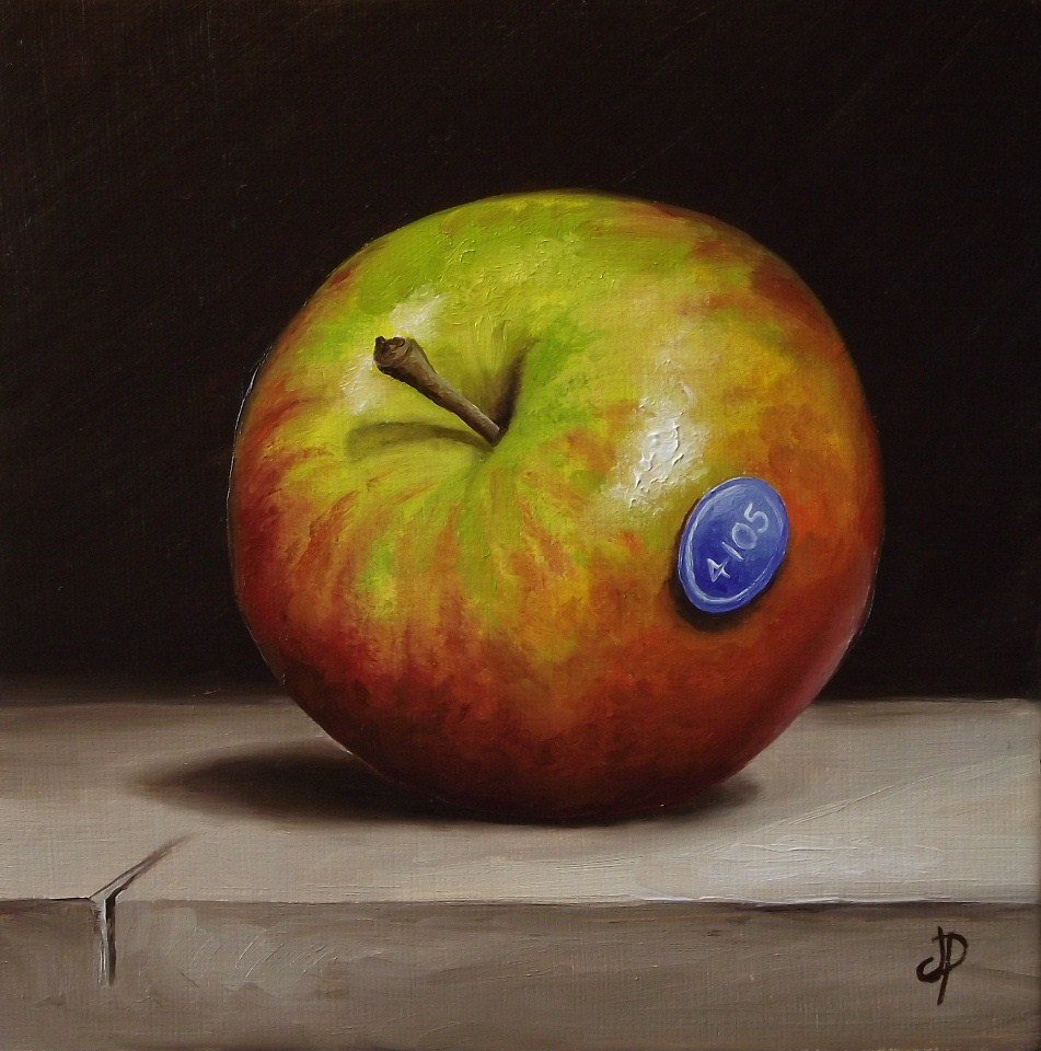"""Cox orange pippin & a little Gala apple"" original fine art by Jane Palmer"