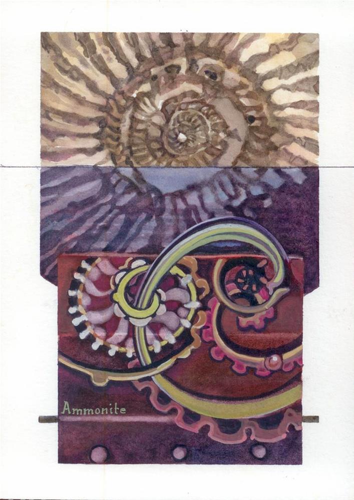 """""""Ammonite"""" original fine art by Beatrix Pearl"""