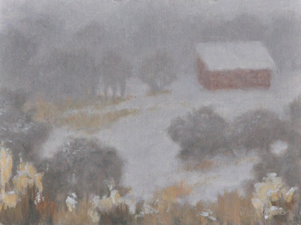 """A Sudden Blizzard"" original fine art by Susan Matteson"