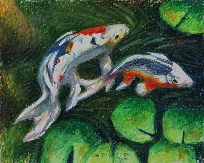 """koi"" original fine art by Sue Deutscher"