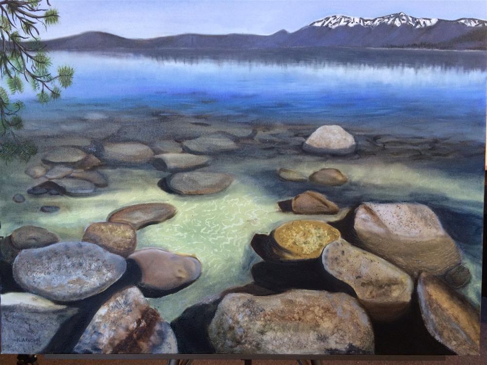 """Rocks Under Water Lake Tahoe"" original fine art by Kenny Arnold"
