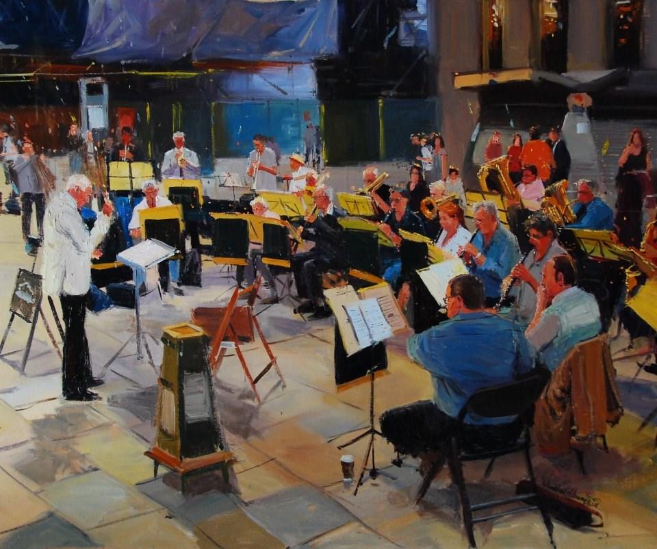 """""""The Orchestra"""" original fine art by Adebanji Alade"""