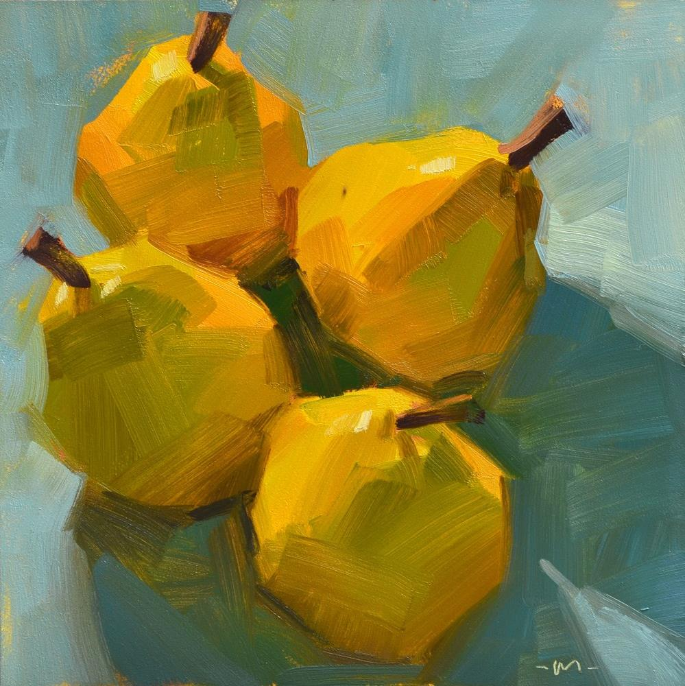 """Four Pear 2"" original fine art by Carol Marine"