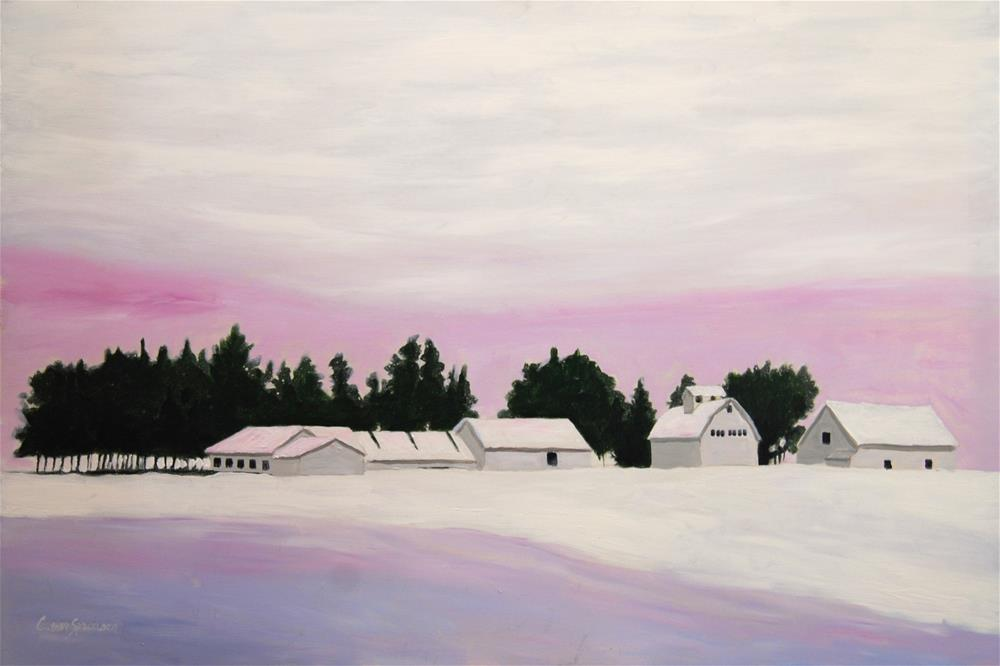 """Iowa Winter"" original fine art by Cornelis vanSpronsen"