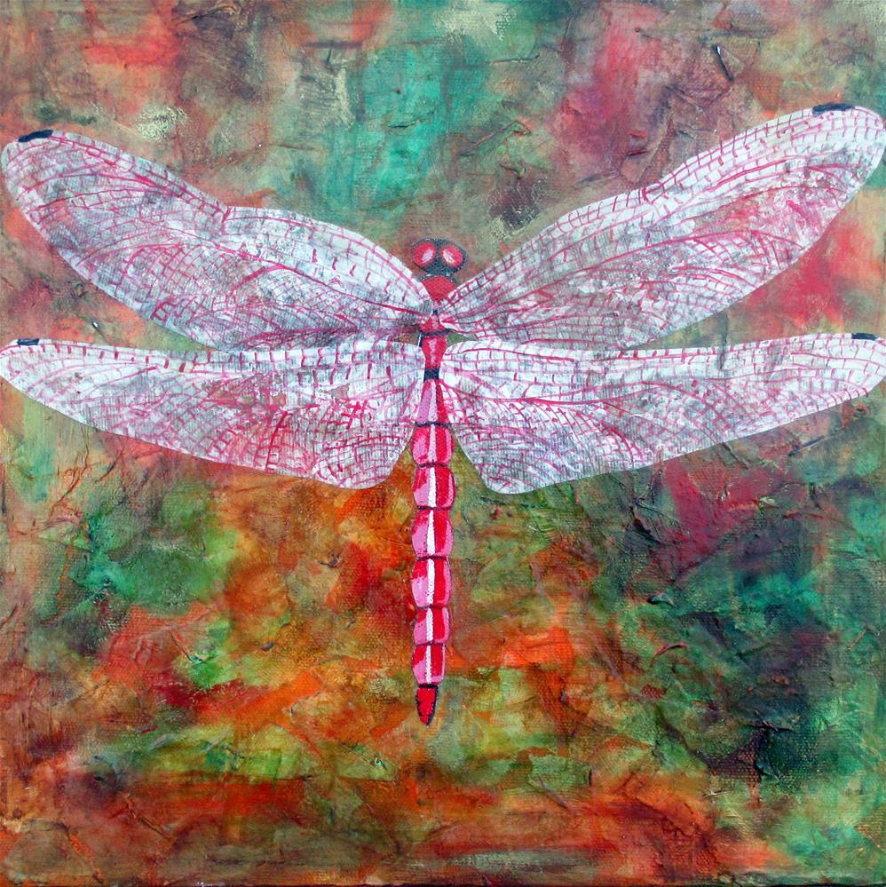 """""""Trithemis Aurora"""" original fine art by Lisa Wiertel"""