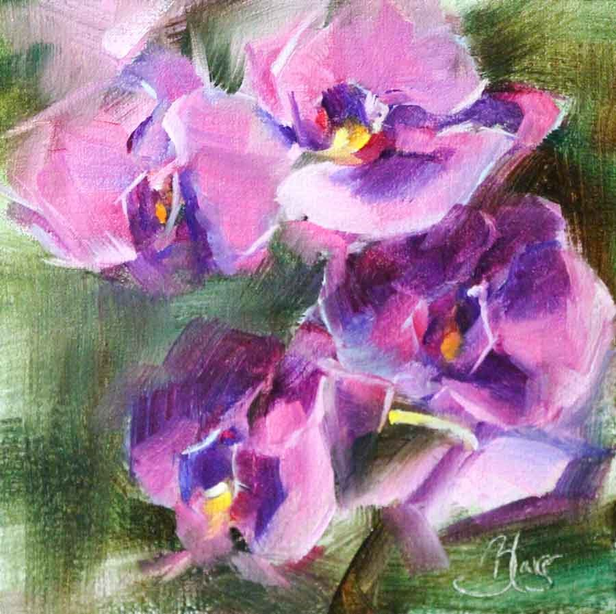 """Orchids"" original fine art by Pamela Blaies"