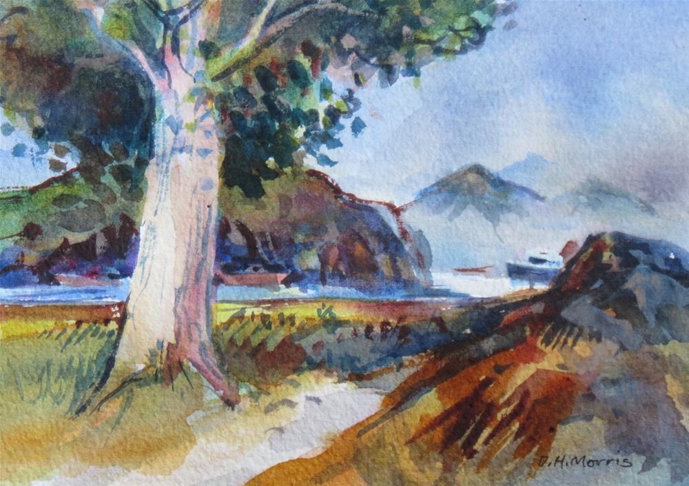 """Tree by the Sea !V"" original fine art by Dann Morris"