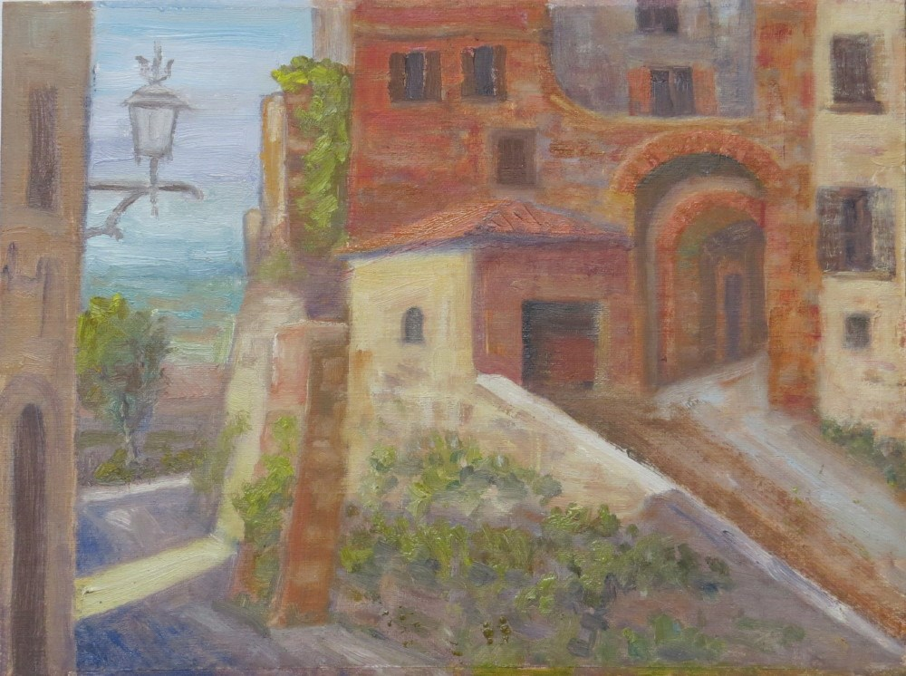 """Morning Light on Montepulciano"" original fine art by Richard Kiehn"